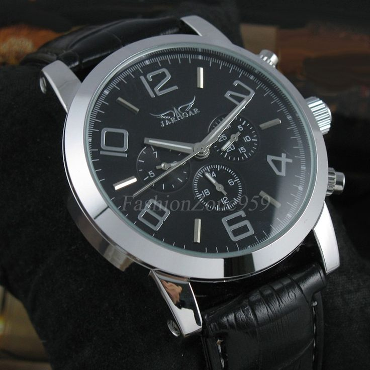 2016 Luxury JARAGAR Mechancial Watches Men's Date Week Multifunction Watch Leather Strap Automatic Self Wind Men Wristwatches - Online Shopping for Watches