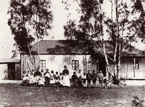 The school on the goldfields, Hill End, NSW c 1872