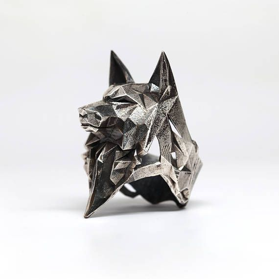 WOLF RING- Sterling Silver- VvILK