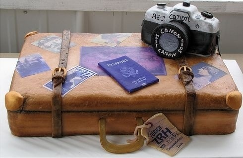 Travel cake - For all your cake decorating supplies, please visit craftcompany.co.uk