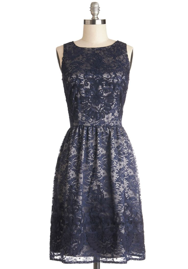 Entirely Enchanting Dress in Navy. Your friends and family all say that youre as sweet as they come, and you elegantly embody that charm in this navy dress! #blue #wedding #bridesmaid #modcloth
