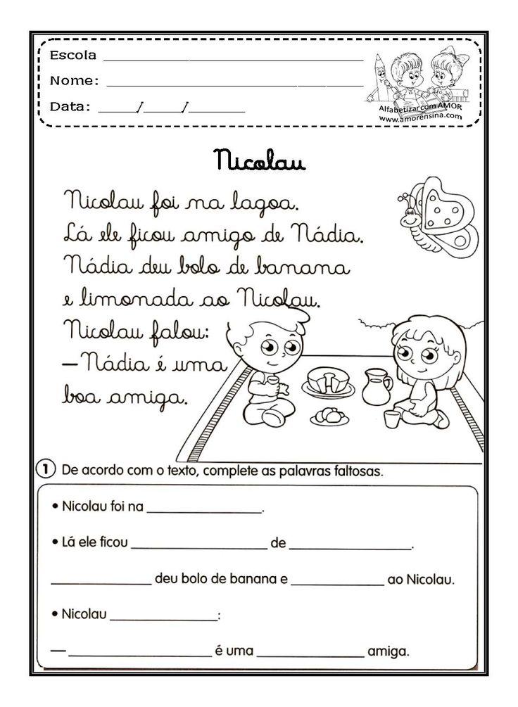Confira algunsTEXTOS E ATIVIDADES EM LETRA CURSIVA:    Laura e a Arara      Abaicaxi      Doce de Banana      Pirulito      Nicolau    ...