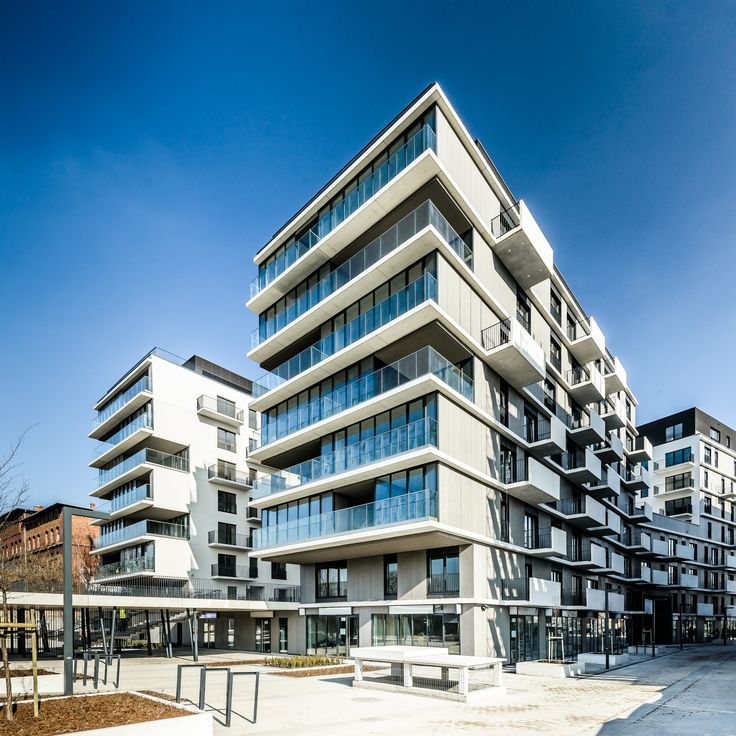 #Kurkowa14, Wroclaw, Zbigniew Mackow, 2015, ensemble mixte de 210 logements et  de 10 commerces. #Nacarat