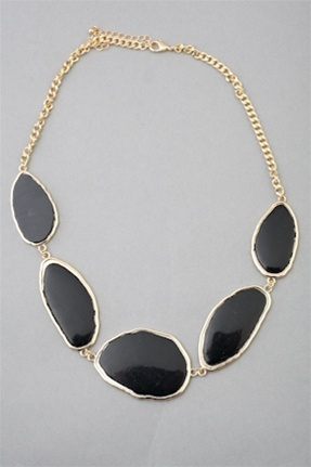 ABSTRACT STONE NECKLACE  $25Accessories Jewelry, Abstract Stones, Pinterest Survey, Clothing Accessories, Jewelry Accessories, Black Stones, Stones Necklaces, Necklaces 25, Clothes'S Accessories