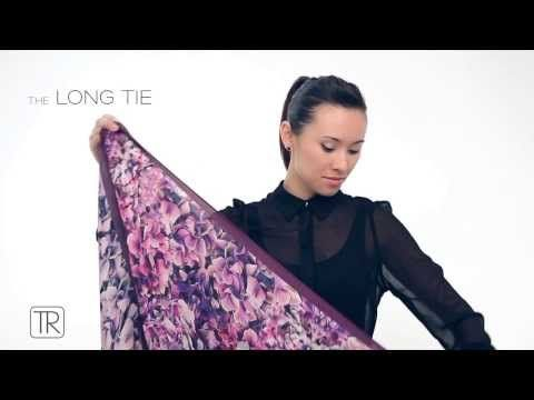 ▶ How to wear big square scarf -Tie Rack Edition - YouTube
