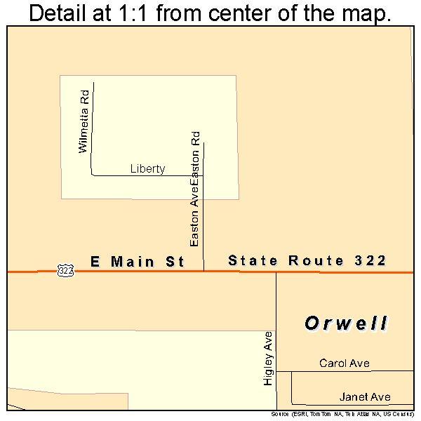 Orwell Ohio Map.Orwell Ohio Street Map 3958856 Learning Ideas For The Kids Ohio