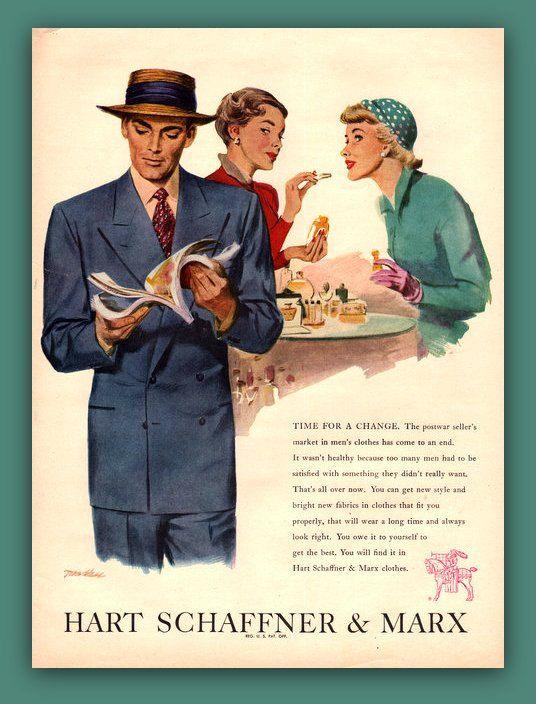 Men S Clothing Vintage Magazine Ad Ephemera By Catchingcanaries