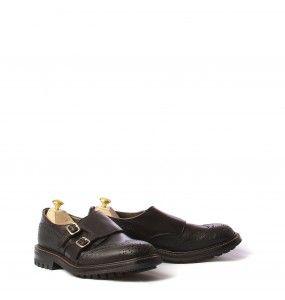Tricker's scarpa classica con doppia fibbia uomo in pelle Brogue M7780 black