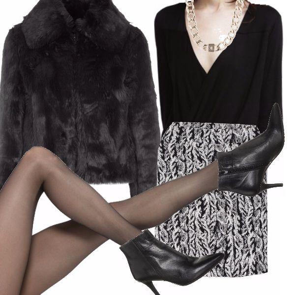 Outfit sexy e accattivante che valorizzerà le vostre forme, ma sempre con un tocco di stile unico e deciso, adatto ad una serata particolare con il vostro uomo.