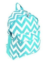 College Backpack - Aqua Chevron