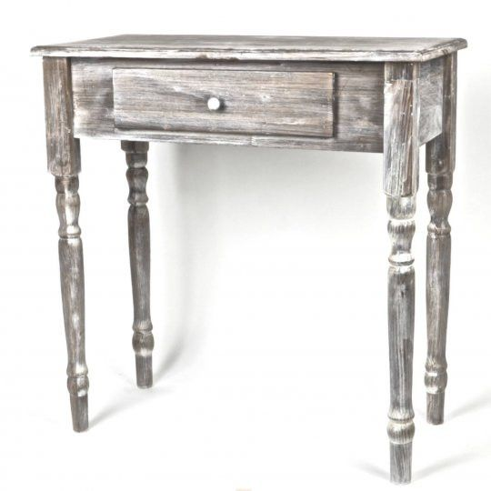 Grey Wash Wooden Side Table