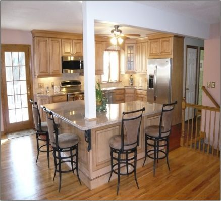 I Dont Like The Style Of Kitchen But Its A Good Idea Raised Ranch Remodel
