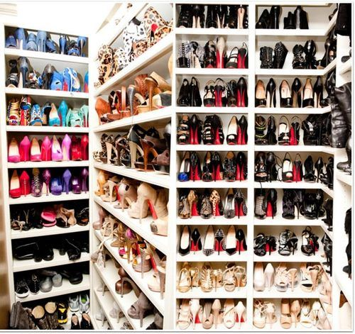 shoe heaven with Louis Vuitton's as the angels