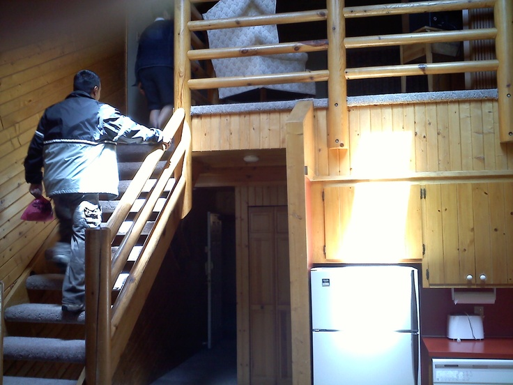 Breezy Point Timeshare Resort facilities - Stairs leading to 2nd floor bedroom - (Highland Village) timeshare unit. 2011
