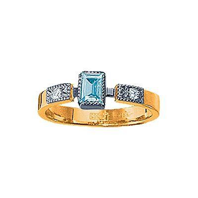 Золотое кольцо  90334RS http://topchasy.ru/index.php?route=product/product&product_id=175584  Price:  20 460.00 р.Кольцо с топазом и бриллиантами. 1 топаз 0,1 грамм; 2 бриллианта 0,04 карат. Материал: красное золото 585 пр. Средний вес: 3 гр..