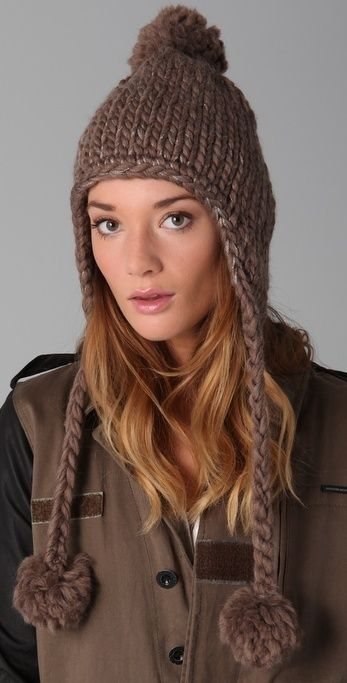 43 Best Earflap Hats Images On Pinterest Knit Caps Knit Hats And
