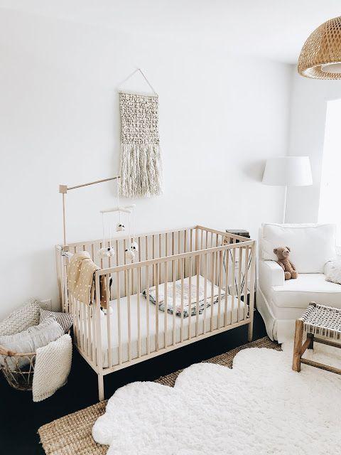 Kinderzimmerdekor, Kinderzimmer, Babyjunge, Schwangerschaft, Blogger-Stil für Zuhause, Ikea-Krippe, neutrales Kinderzimmer, Kindergartenbesichtigung, Boho, wunderlich