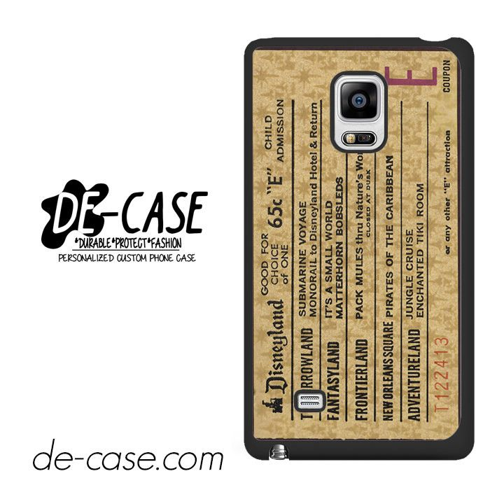 Classic Disneyland Ticket DEAL-2698 Samsung Phonecase Cover For Samsung Galaxy Note Edge