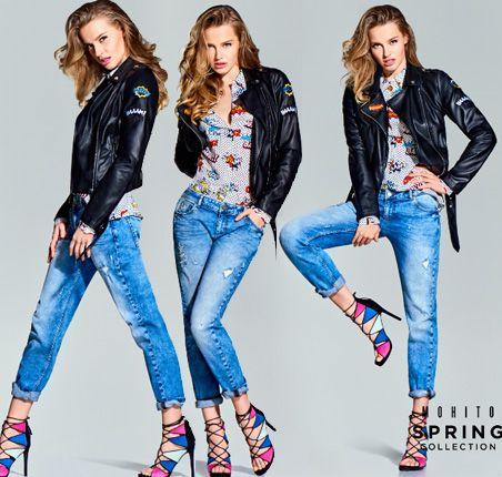Karolina Pisarek dla Mohito - walentynki 2016 wiosna lookbook ss2016 jeans heels