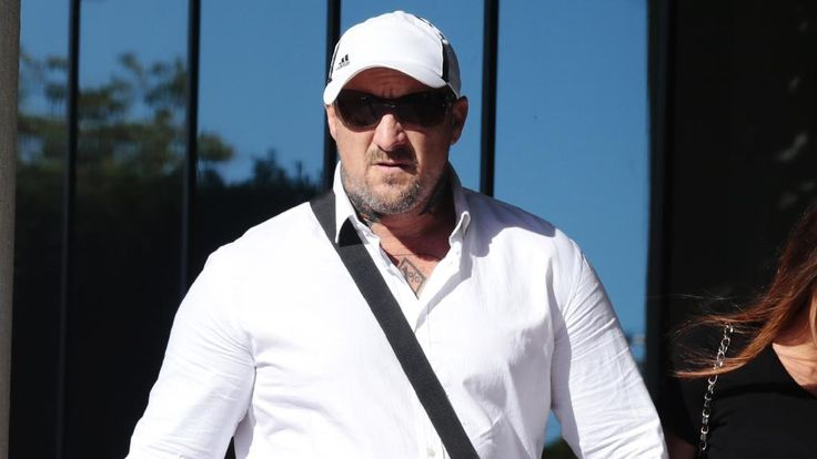 Bikie Walter Robert Wintle arrives at Maroochydore Magistrates Court.