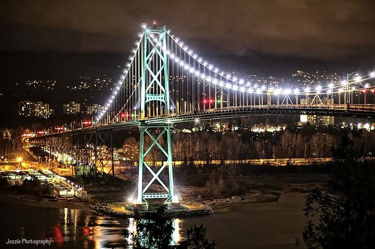 Thank you Jamie Oswald of a great shot of Lions Gate Bridge from Stanley Park, Vancouver, BC