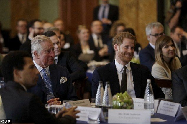 Prince Charles and his son  attended a coral reef health and resilience meeting in London ...