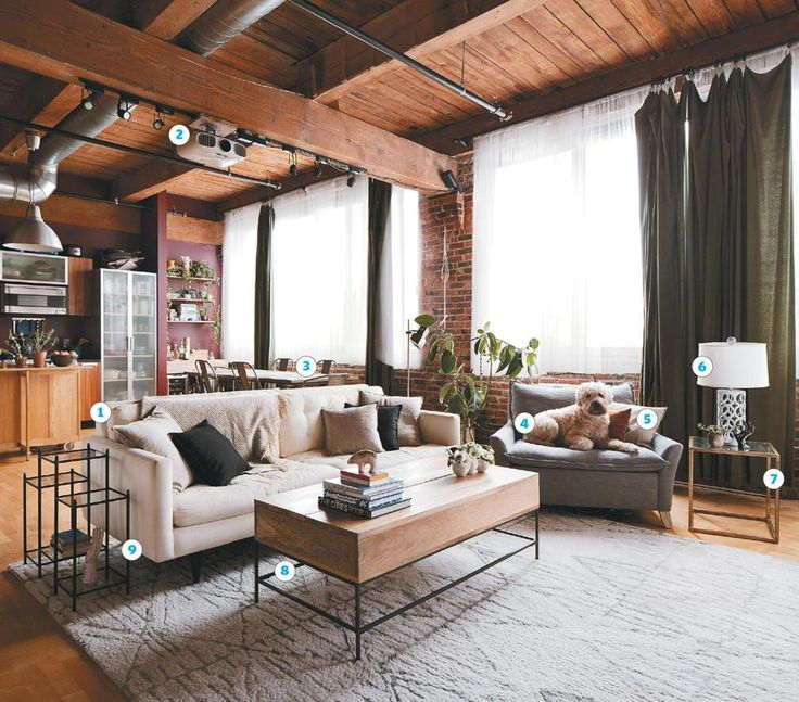 loft living for newlyweds the boston - Loft Apartment Furniture Ideas
