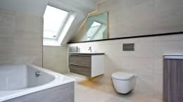 Residential Development, West Yorkshire: eclectic Bathroom by Wildblood Macdonald