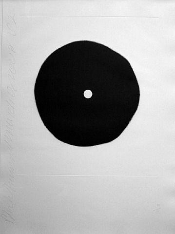 """Donald Sultan / """"Black Trumpet"""", Aquatint, 2008"""