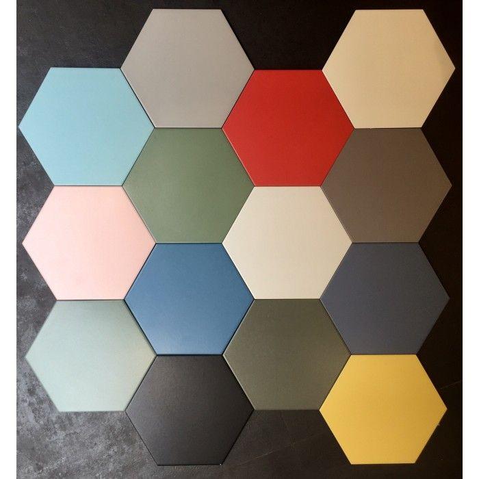 Carrelage Gres Cerame Hex 25 Basic Hexagone 25x22cm 14 Couleurs Carrelage Gres Cerame Carrelage Carelage Hexagonal