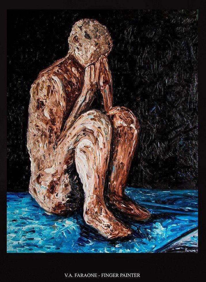 """""""VESUVIUS VICTIM"""" oil on canvas 100x80 cm. fingerpaint technique  www.faraonepainter.com  Ti piace e vuoi acquistarlo? Do you like it? Buy it!  https://www.etsy.com/it/listing/534861964/olio-su-telafinger?ref=shop_home_active_1"""