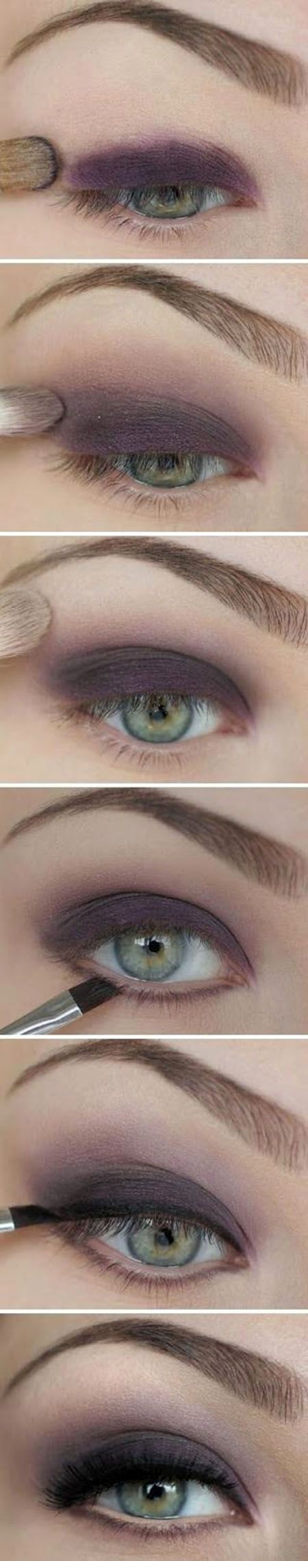Dark Purple Eye Shadow Tutorial #eyemakeup #makeup