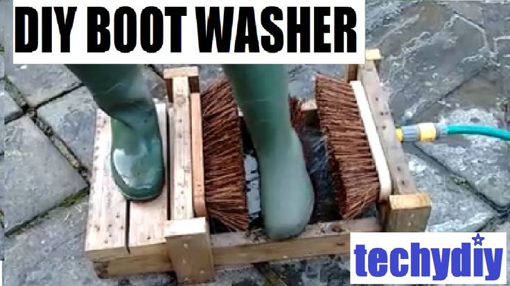 How To Make A Diy Boot Cleaner Washer Clean Washer Shed