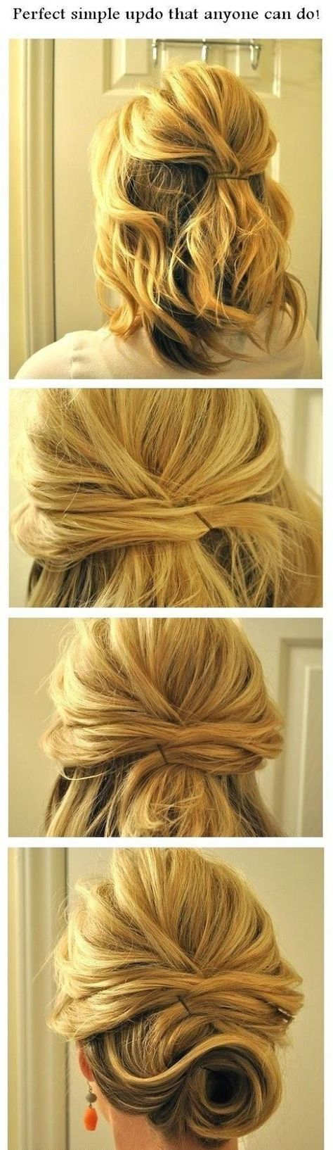 If you have short hair, you can also put strands over one another to make a messy braid.