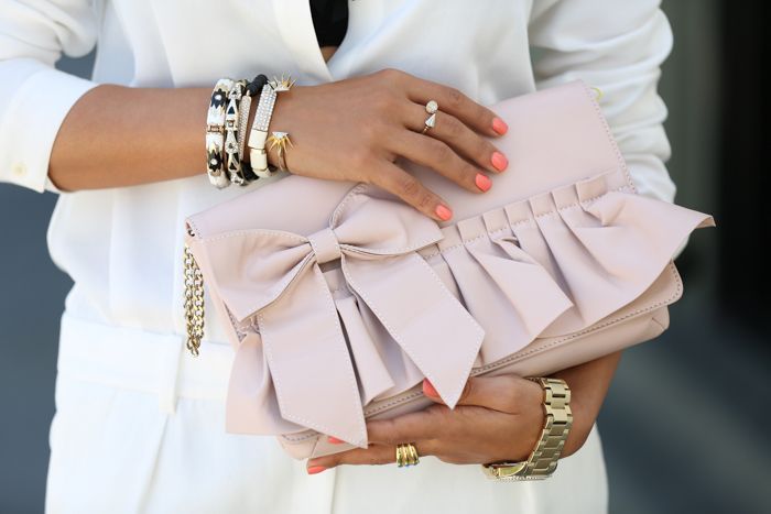 Summery Pastels with black and gold accessories