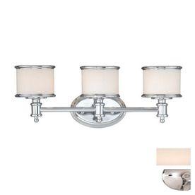 $123.00  Cascadia Lighting 3-Light Carlisle Chrome Bathroom Vanity Light