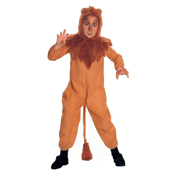 The Wizard of Oz Cowardly Lion Costume - Kids, Kids Unisex, Size: Small, Brown