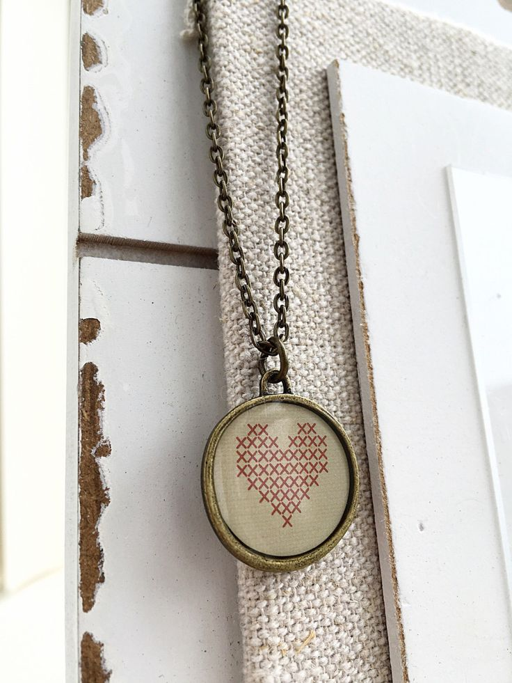 I love you necklace, I love you gift - perfect Valentine's gift for your love - handmade pendant necklace now available at our store - see details at https://www.etsy.com/ca/listing/280700240/retro-heart-pendant-antique-gold