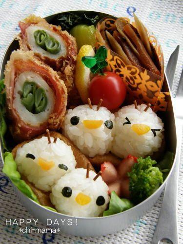 Chicks bento food japan