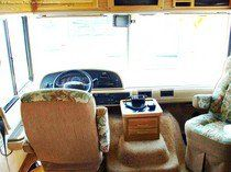 A look inside a used motorhome for sale.