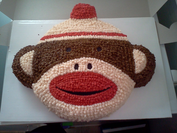 Sock monkey cake for a very special one-year-old