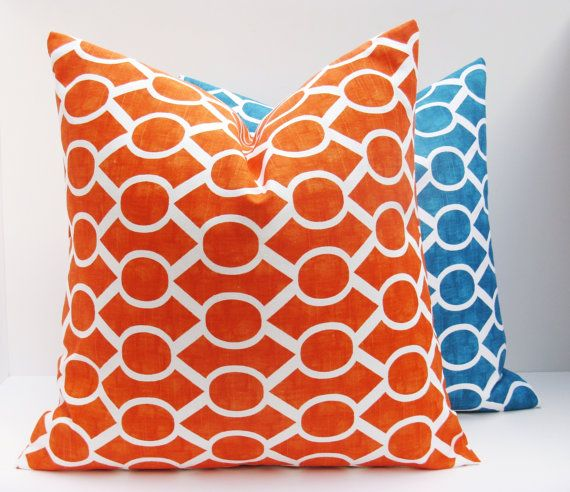 Decorative Throw Pillows Covers .Orange Pillow by EastAndNest, $32.00