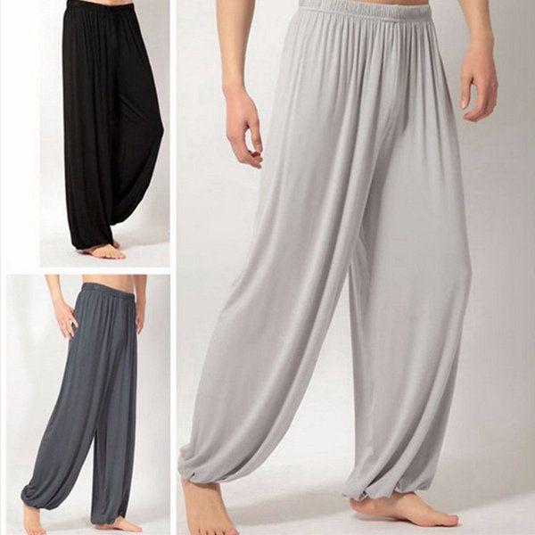 Loose Yoga Morning Practice Sports Pants Men Women Casual Bloomers at Banggood