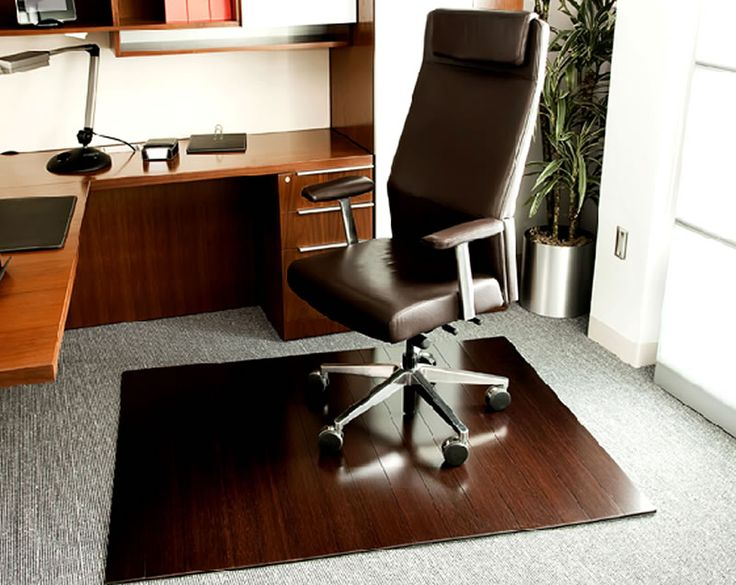 deluxe wooden home office. Bamboo Office Chairmats Design Commercial Interior Ideas Deluxe Sustainable On Wooden Pad Grey Rug Home
