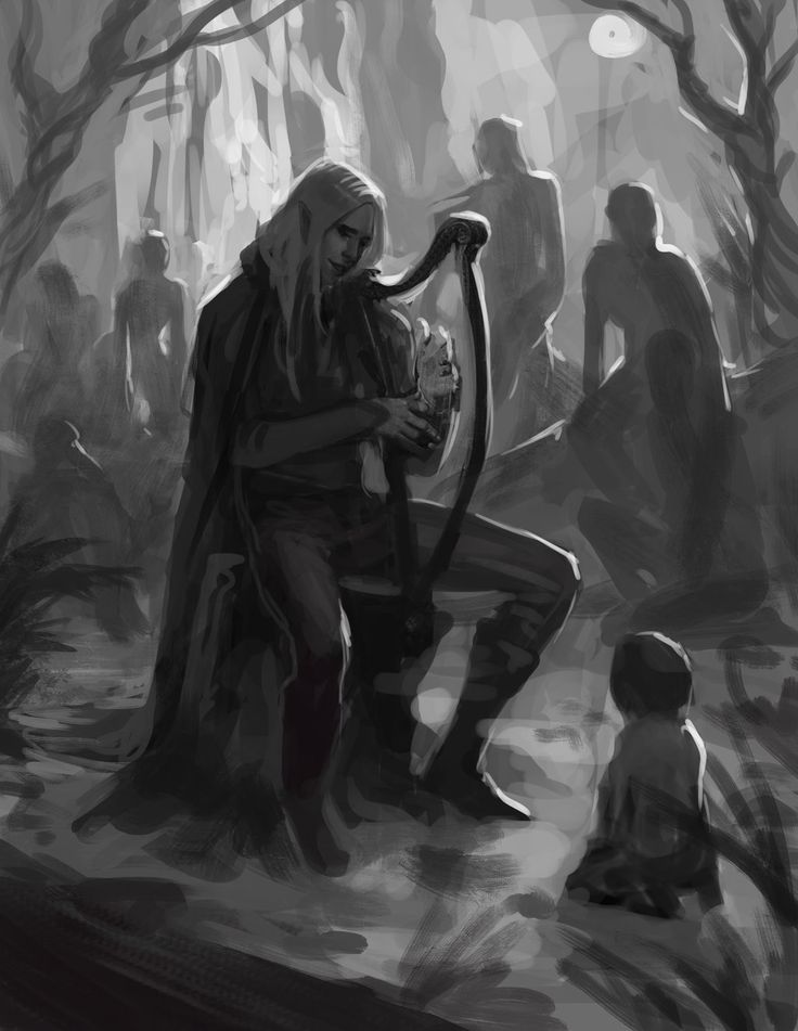 Finrod Felagund meets a man for the first time by sagasketchbook on DeviantArt