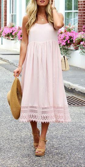 Perfect summer blush dress!
