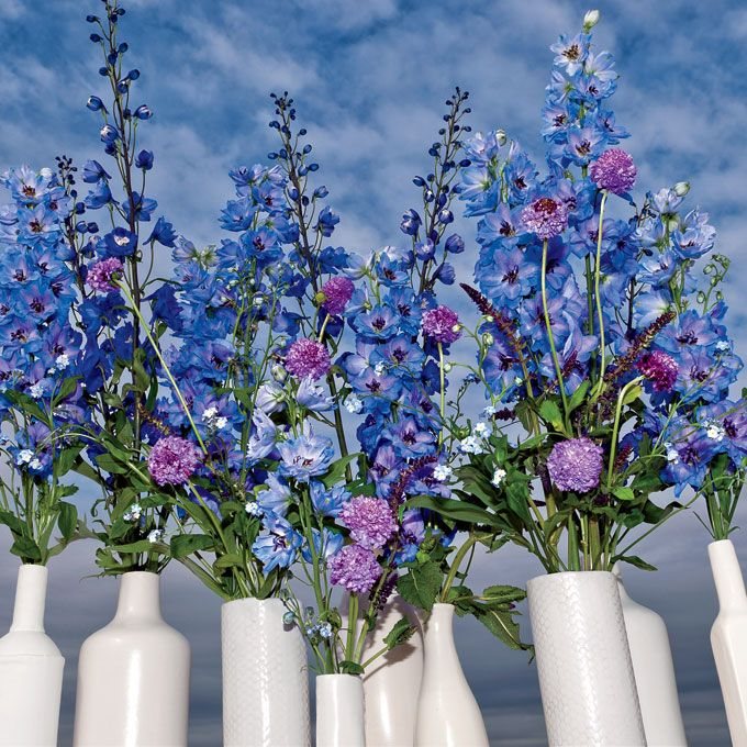 Blue and Purple Wedding Centerpiece