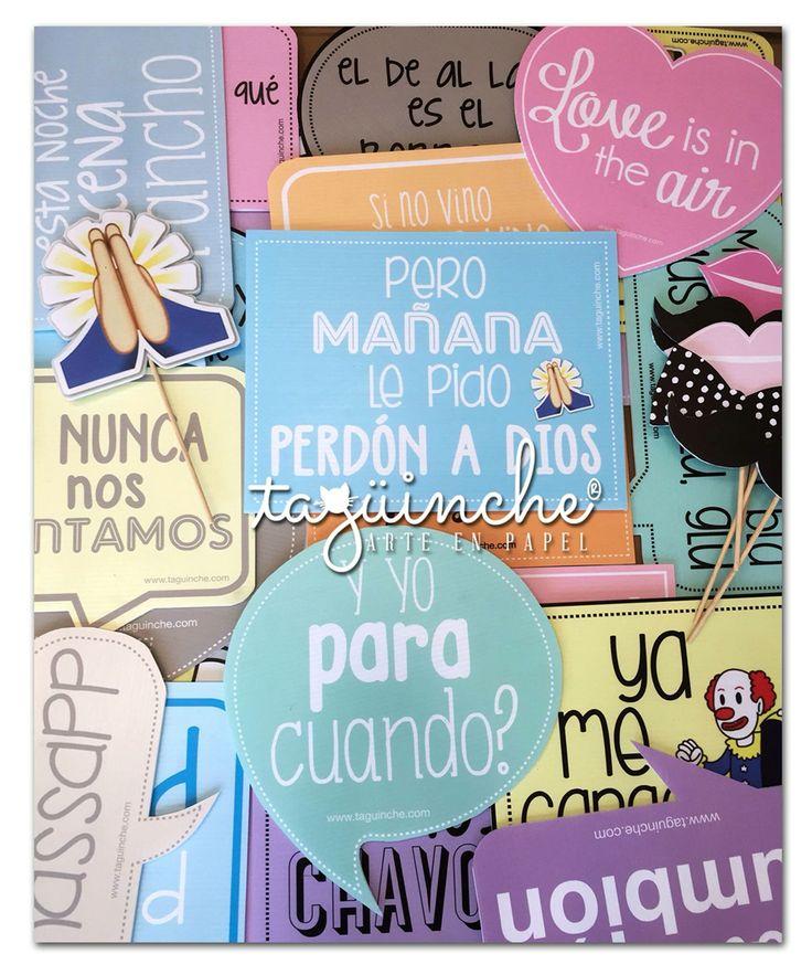Letreros divertidos para fiesta  www.taguinche.com