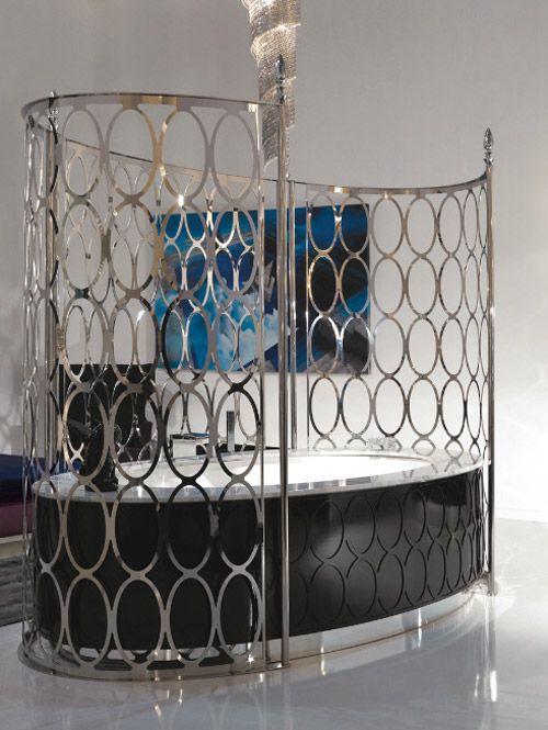 königliche badewanne von IPE metall paravent schwarz