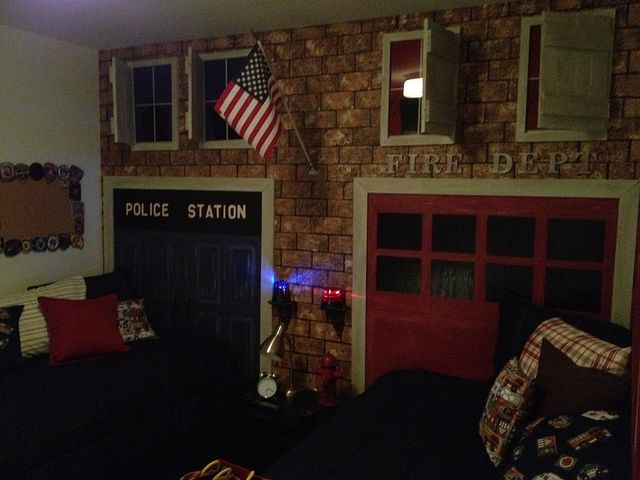 Fire Department Theme Bing Images Basement Ideas Pinterest Room Bedrooms And Men Cave